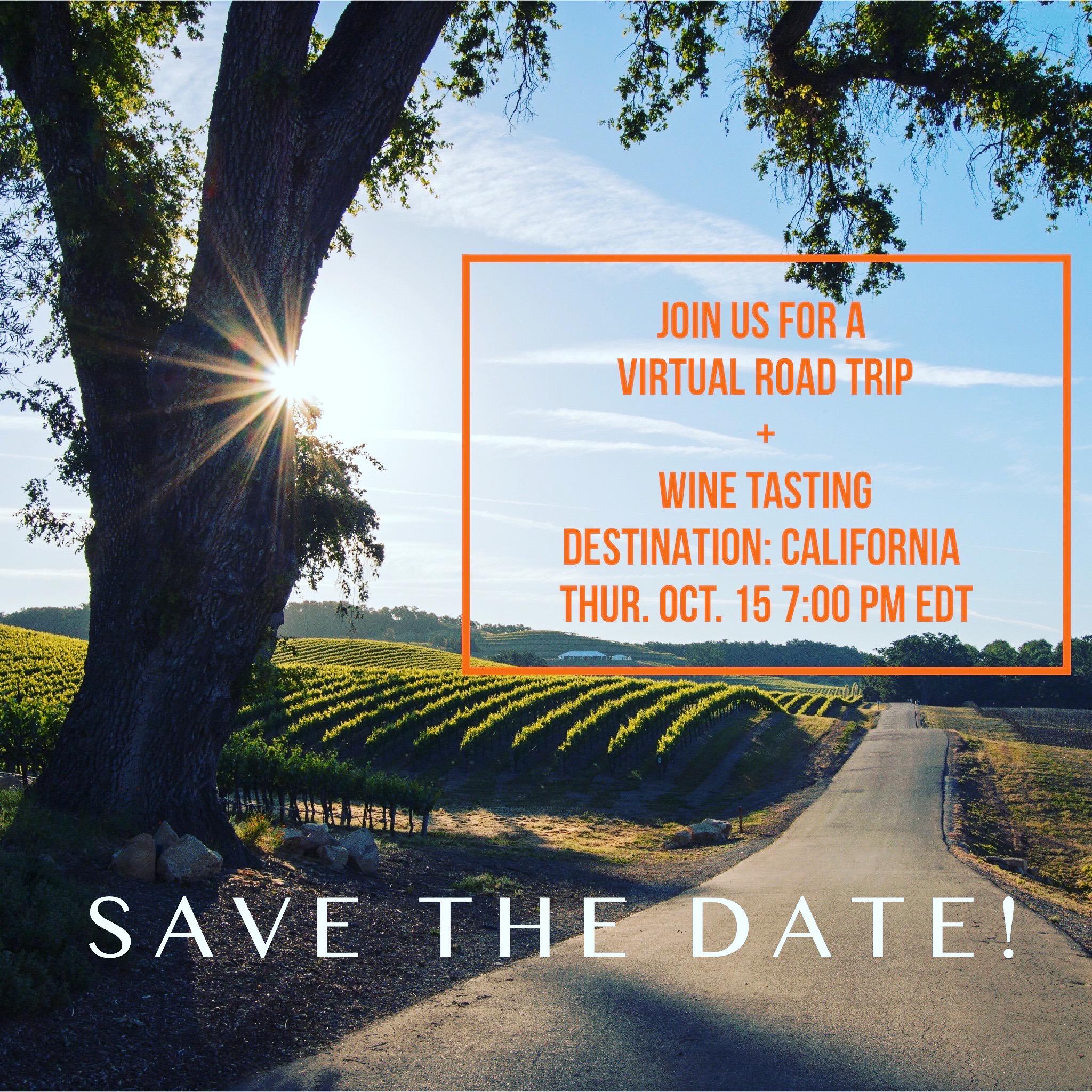 Virtual Road Trip & Wine Tasting
